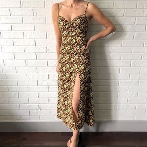 NWT Urban Outfitters BLK MOTIF floral maxi dress